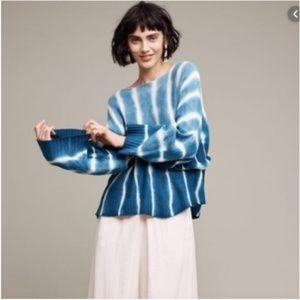 Anthropologie Moth tempest boxy tie dye sweater